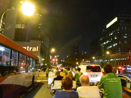 The trishaw convoy on the way to Clarke Quay , Mr Richard F - November 2014