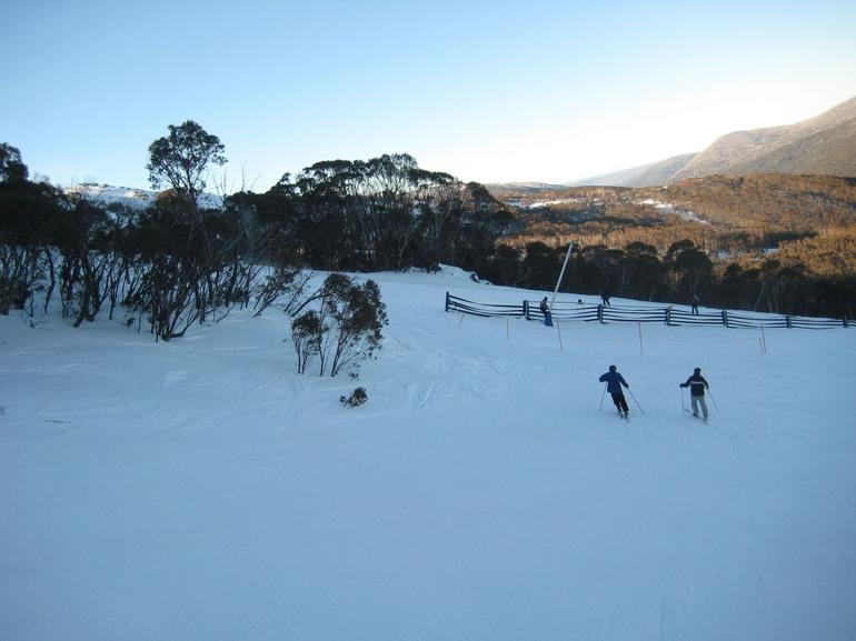 Skiers going down the slopes - Canberra