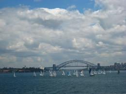 It seems that all sails and boats were out in the Harbour that day! - March 2010