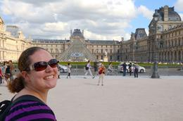 Outside the Louvre at the start of our tour , Shell - August 2013