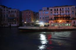 Vaporetto crossing canal in Venice - November 2008