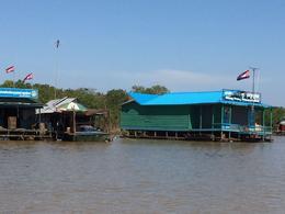 Floating houses on the lake Tonle Sap , YOSHIO U - January 2018