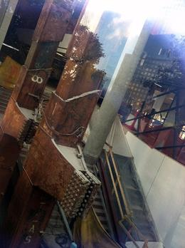 Looking inside the planned museum at the original beams. , Gail J - November 2013