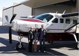Jen & Justin with their pilot Karen - February 2012