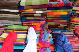 Different colored fabrics and cloths., Bandit - October 2013