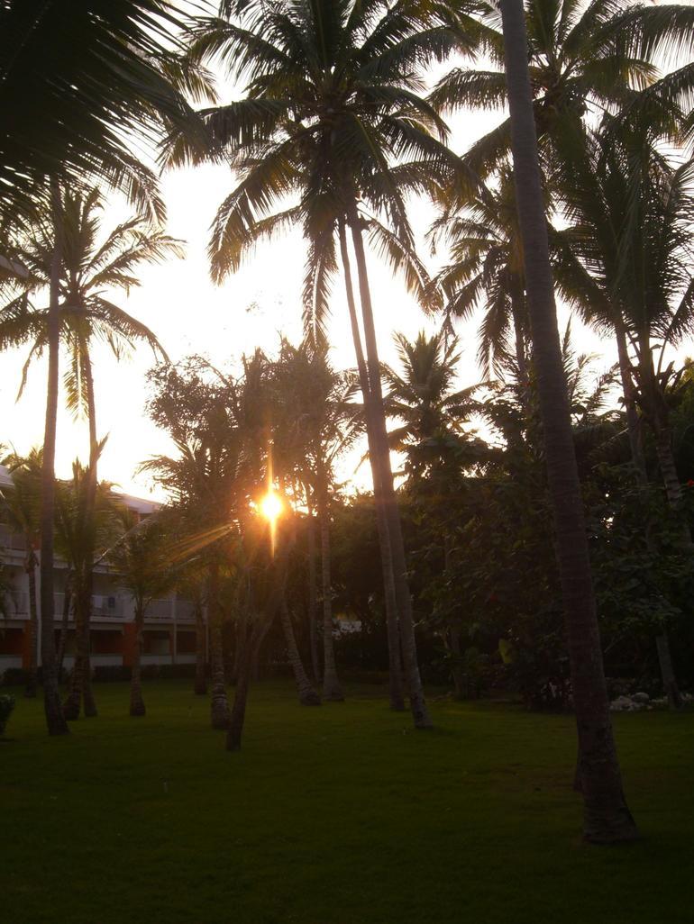 Hotel garden sunset - Punta Cana