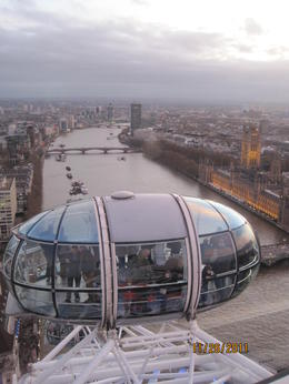 wonderful view from London Eye! , Diann - December 2011