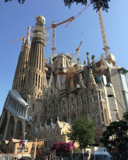 A scene of the Sagrada Familia from the park. , Willis T - July 2016