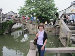 The canal in Zhouzhuang., Julie - June 2012