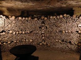 Catacomb wall, Paris underground , Lynn R - October 2015