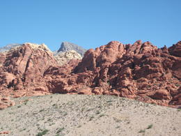 Upper edge of canyon. Iron ore makes these rocks red , Carie W - August 2011