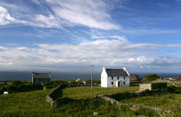 Remote farmhouse, Aran islands, Ireland - June 2011