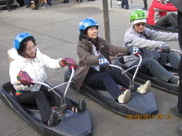 After lunch in the restaurant, we tried to ride luge for the first time... Very fun...! , Agus C - August 2013