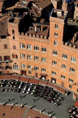 Piazza del Campo as seen from the Torre del Mangia. , Philina H - February 2013