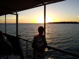 Enjoying the Sunset in Nadi Bay Brenda , Thomas C - February 2012