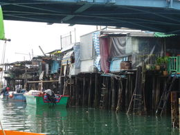 We took a short boat trip through Tai O fishing village. , Little Mo - January 2016