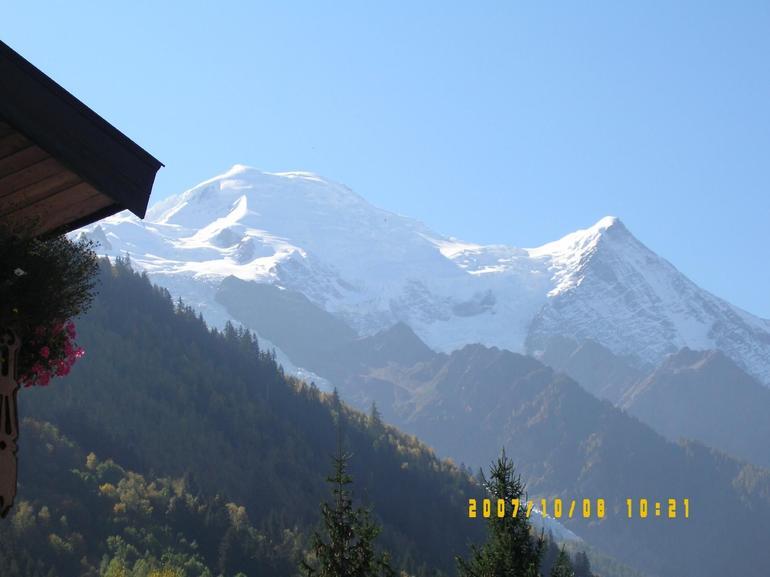 View of Mont Blanc from Chamonix - Geneva