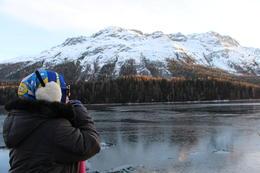 Me myself enjoying lake view at St. Moritz. , Fazliana - January 2017