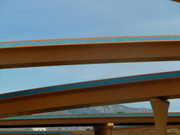 I took this picture as we were driving under these overpasses just outside of Albuquerque. Why can't all freeways be this pretty? , JackieD - March 2011