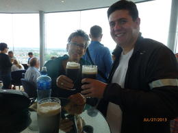Toasting with a pint o' Guinness! , John L - September 2013