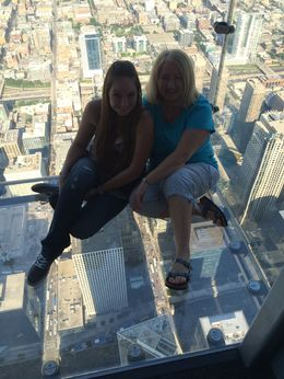 Gloria Deatherage from Springfield, IL and Sara Hooberry from San Jose, CA. Just chilling on the ledge. , Gloria D - August 2015