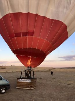 Inflating of the balloon just before the trip , JESSICA.DEVERSON - October 2015