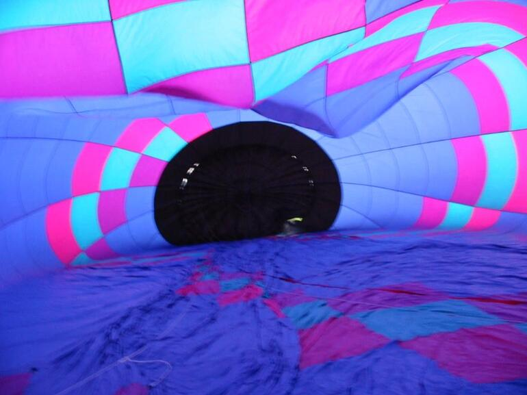 Inside our balloon - Orlando