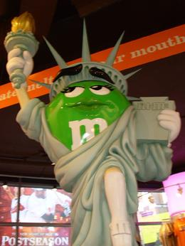 You can't miss going to the M&M store in Times Square. Anything you can think of in M&M and any color of M&M you want!!, Judy W - November 2007