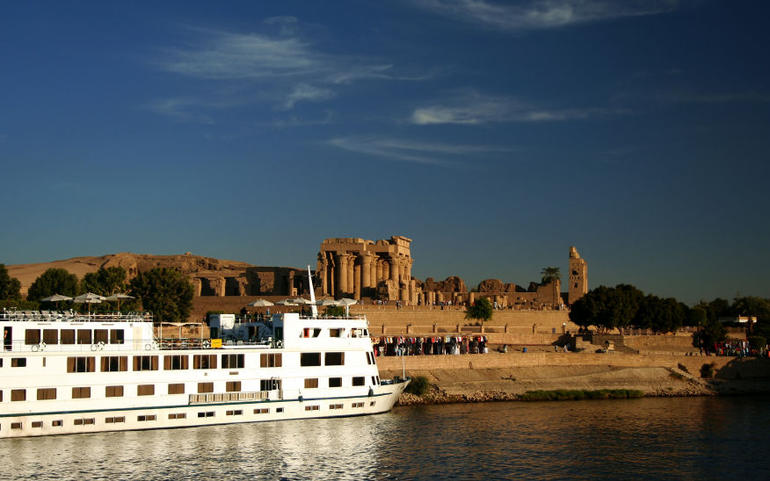 Nile Cruise Boat at Kom Ombo - Cairo