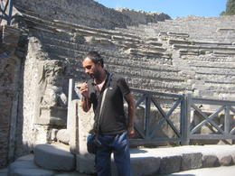 Antonio is describing the theatre in Pompeii , M. ELIZABETH C - November 2014