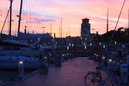 Sunset in Barcelona port, SCV - January 2013