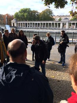 Tour Guide Rick giving us his 5 min amazing summary of Berlin's history. , Andrew M - October 2016