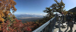 Panoramic view at Shinto Shrine, Mt. Fuji 5th station , Rissa - November 2016