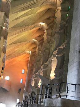 Sun-lit ceiling section shows the light of Jesus descending to his blood. , Deborah E - May 2017