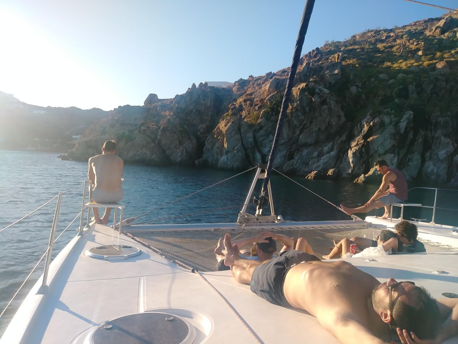 MÁS FOTOS, Travesía en catamarán por Mykonos
