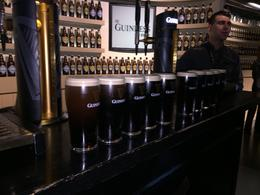 The result of our class - teaching us how to properly pour a Guinness , bstott - October 2017