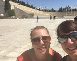 Kim and Ilene on the Athens 1/2 Day sightseeing tour , Ilene R - July 2016
