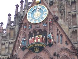 Clock tower at the square in Nuremberg - August 2010