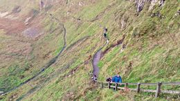 Walk down the cliffs to Giants Causeway, Sherry O - March 2015