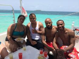My sister, Brother, buddy, and I on the snorkel boat. , Alfredo M - July 2014