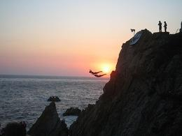 I was blown away with watching the cliff divers in Acapulco! The description is absolutely correct... these people do risk their lives. Crazy! It's worth seeing... - April 2008