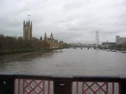 View from bridge in London w/ London Eye, etc., Paul A - December 2009