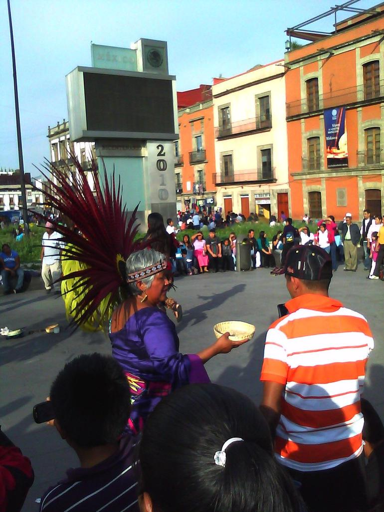 Native Dancers-Zocalo-Think Venice Beach in Mexico City - Mexico City