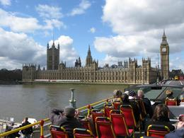 Parliament and Big Ben: As you can see this is from the top of the bus., Jana K - May 2008