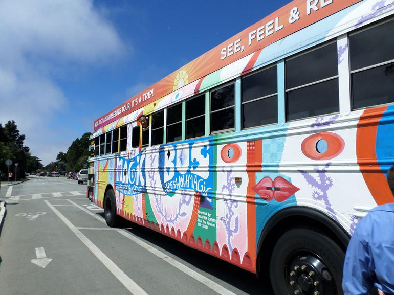 the bus blows bubbles - San Francisco