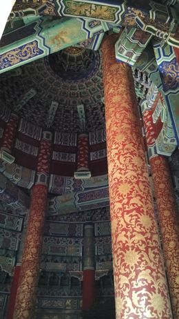 The magnificent interior including the roof of the Temple of Heaven , URJIT Y - September 2015