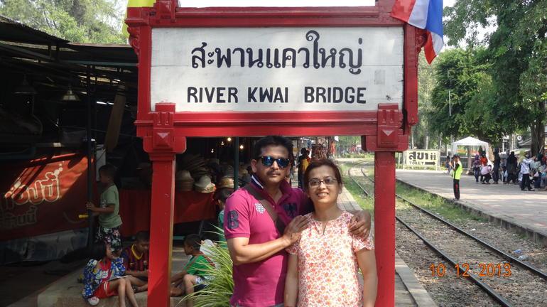 With Manju @ River Kwai Platform - Bangkok
