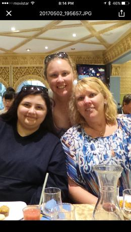 my girls and I enjoying a great meal prior to the show , Mary M - May 2017