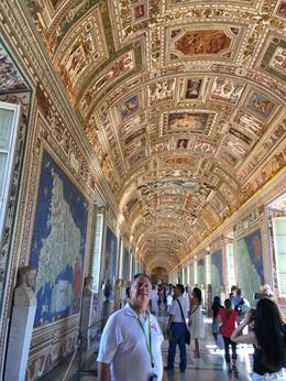 Hall of hand woven tapestries depicting maps of the entire Roman Empire , David M - August 2017