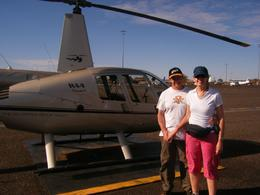 Getting on board the 4-seater helicopter, Rino P - May 2009